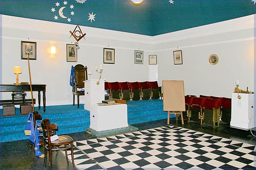 Inside the Masonic Lodge in Kyle of Lochalsh
