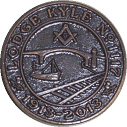 Lodge Kyle Centenary Masonic Penny